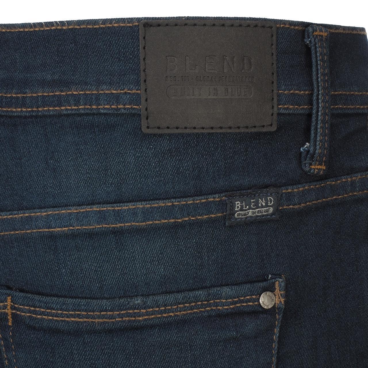 Jeans-Pants-Slim-Blend-Twister-34-Dk-Blue-Blue-Jeans-10961-New thumbnail 4