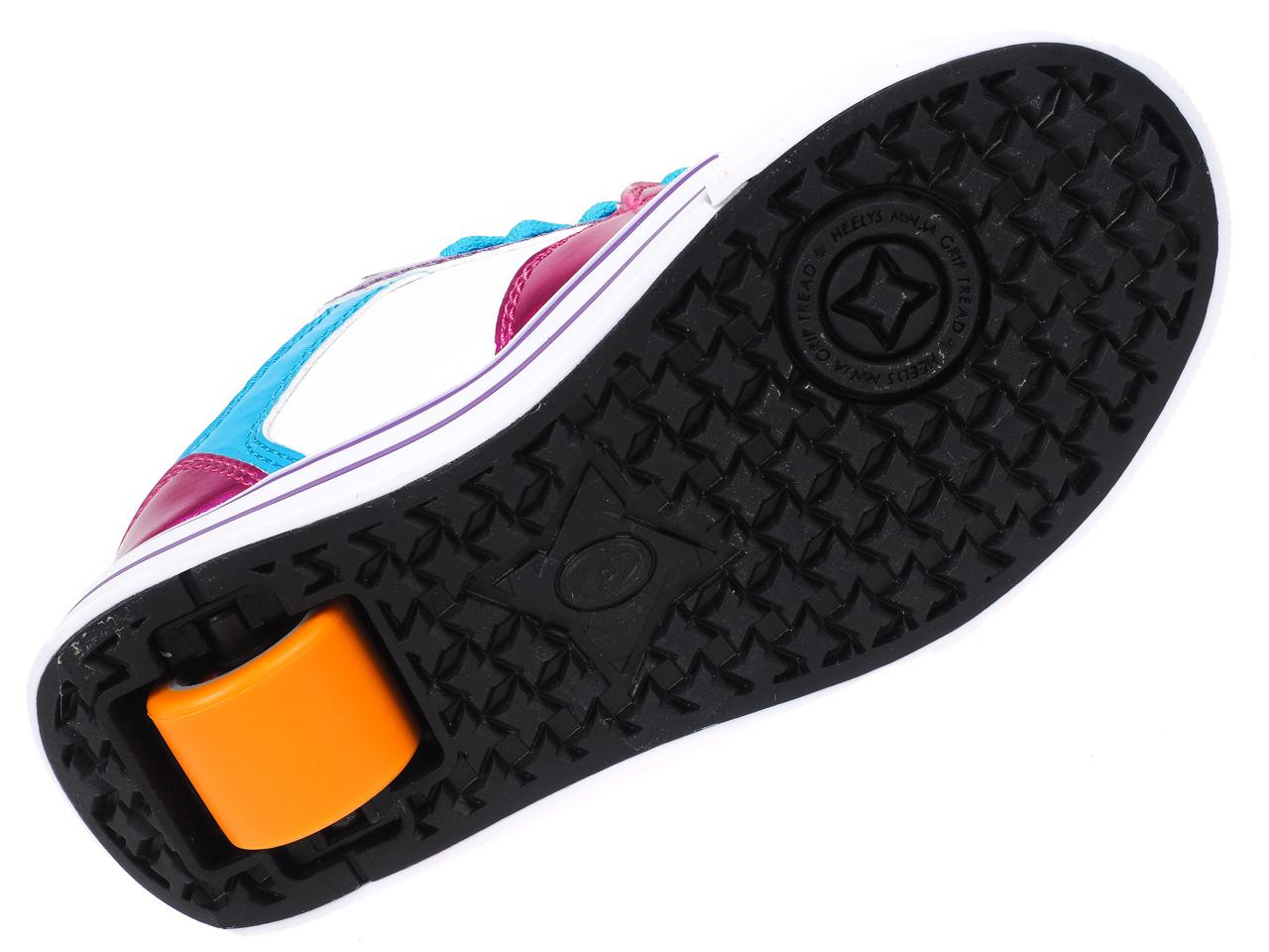 Shoes-to-Casters-Heelys-Motion-More-Fuchsia-White-Pink-11296-New thumbnail 4