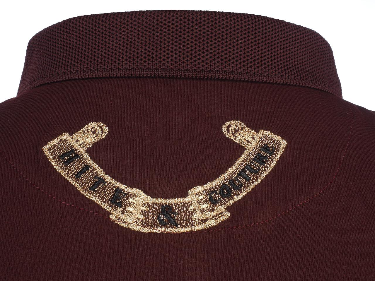 Short-Sleeve-Polo-Hite-Couture-Pamiler-Bordeaux-Mc-Polo-Red-11573-New thumbnail 4