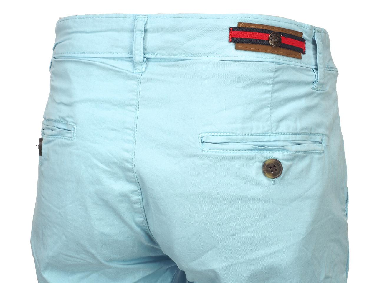 Bermuda-Shorts-Hite-Couture-Vobier-Sky-Bermuda-Chino-Blue-11597-New thumbnail 4