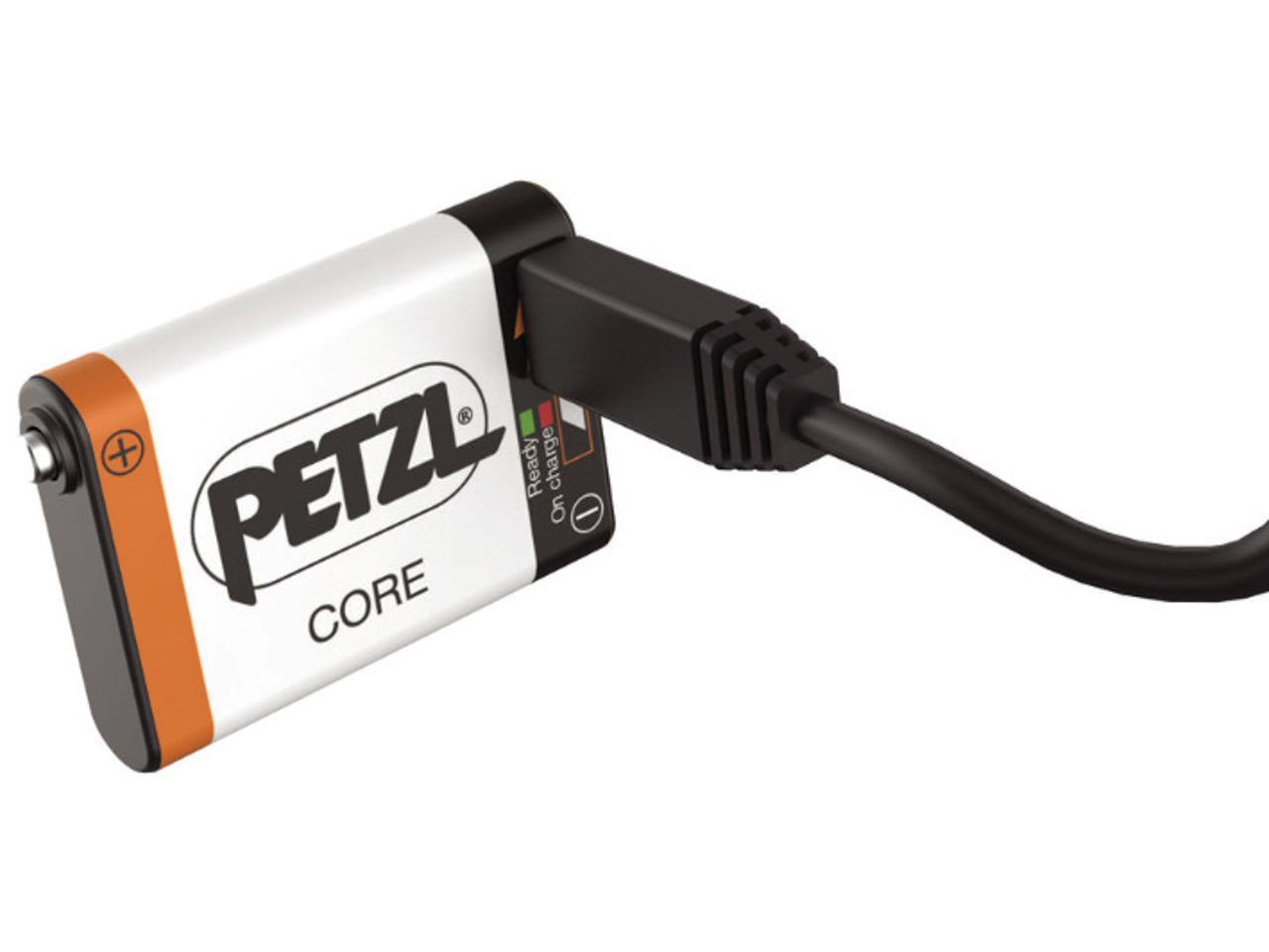 Lampe-frontale-Petzl-charlet-Core-batterie-lampe-Noir-15092-Neuf miniature 4