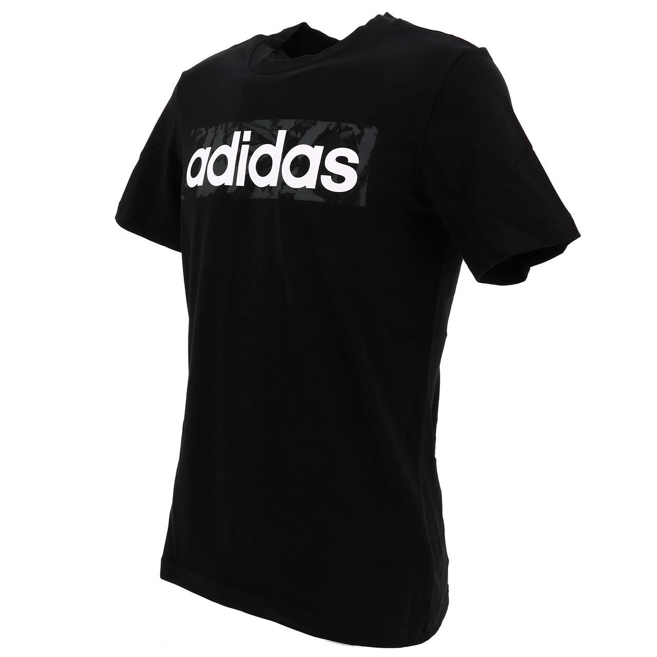 Short-Sleeve-T-Shirt-Adidas-E-Linen-Aop-Box-Blk-Mc-Tee-Black-16677-New thumbnail 3