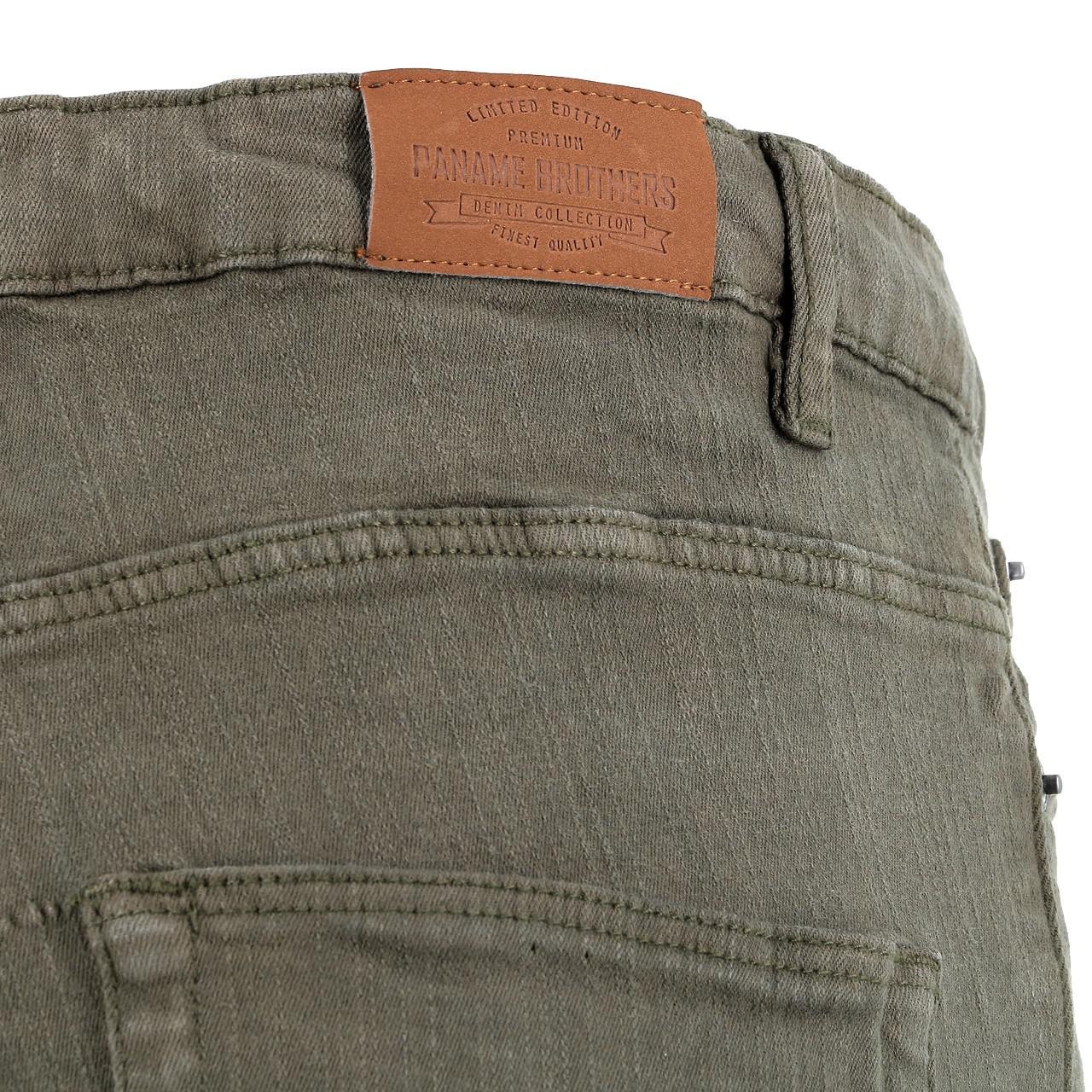 Jeans-Pants-Paname-brothers-Japa-Khaki-Jeans-Green-17196-New thumbnail 4
