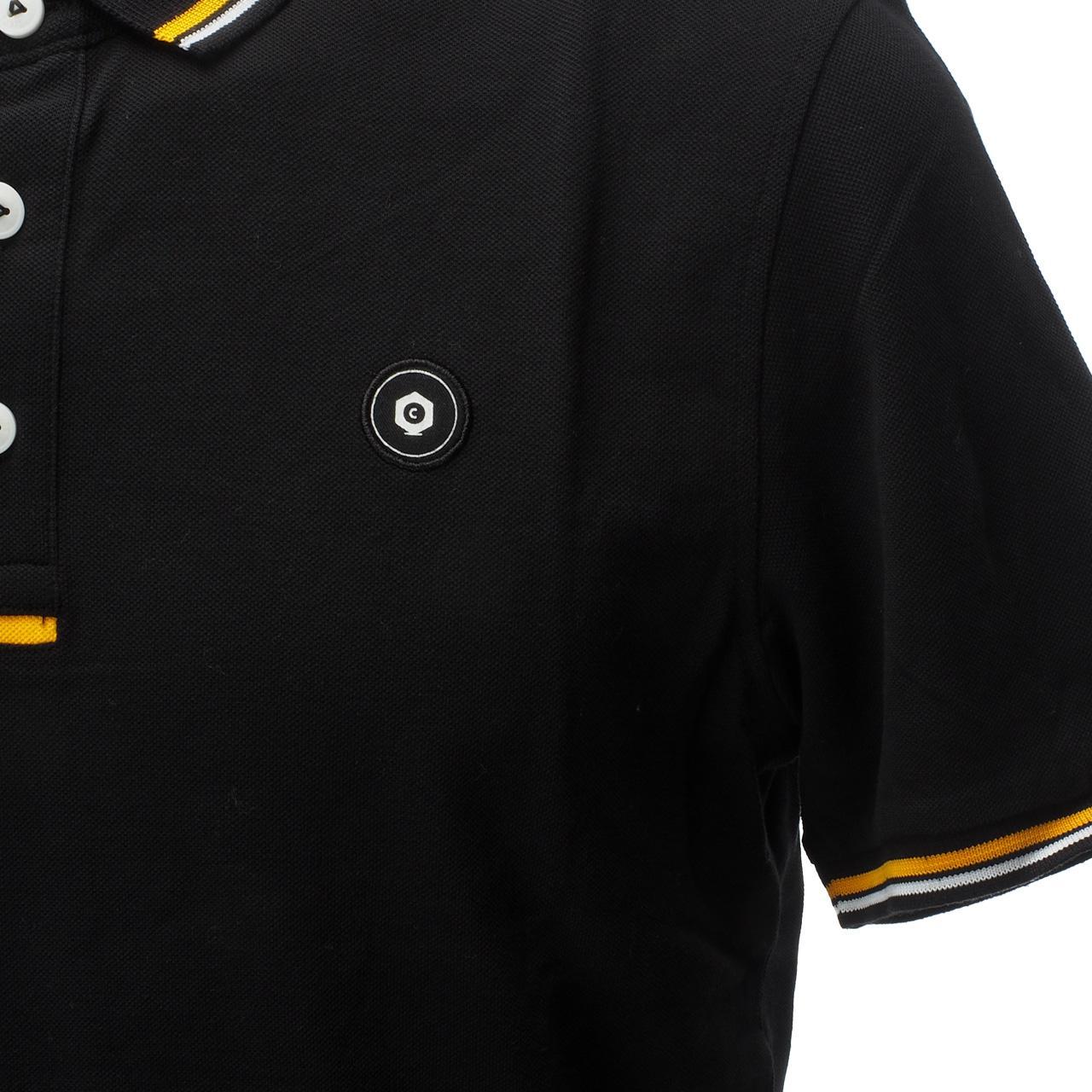 Short-Sleeve-Polo-Jack-and-Jones-Challenge-Black-Mc-Polo-Black-17260-New thumbnail 4