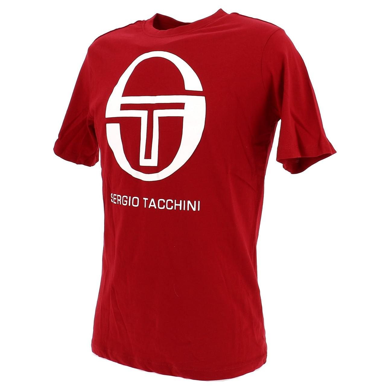 Short-Sergio-tacchini-Candytuft-Apple-Red-Mc-Tee-Red-17767 thumbnail 4