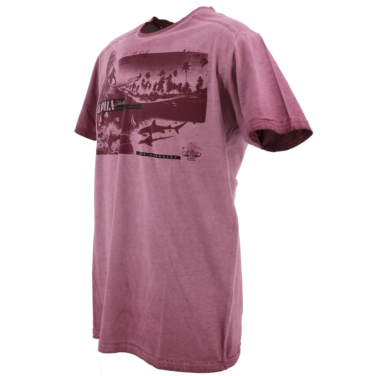 Short-Sleeve-T-Shirt-RMS-26-Shark-Wine-Mc-Tee-Red-18023-New thumbnail 4