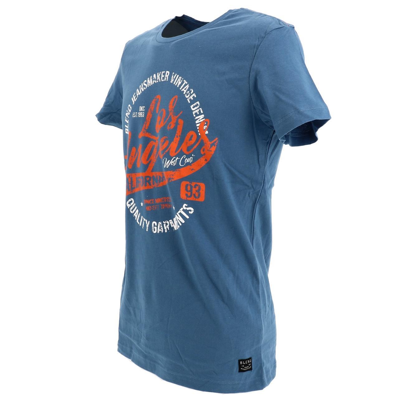 Short-Sleeve-T-Shirt-Blend-Angel-Coronet-Blue-Mc-Tee-Blue-18047-New thumbnail 4