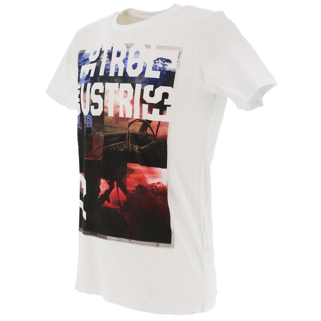Short-Sleeve-T-Shirt-Petrol-Industries-Tsr618-Bright-White-Tee-White-18081 thumbnail 4