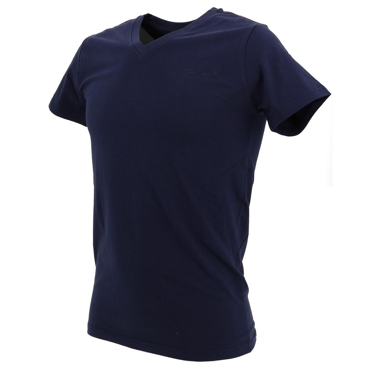 Short-Sleeve-T-Shirt-Teddy-Smith-Tawax-US-Navy-Mc-Tee-Blue-18153-New thumbnail 4