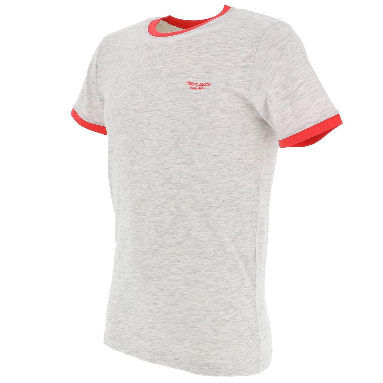 Short-Sleeve-T-Shirt-Teddy-Smith-the-Tee-Wht-Mel-Coral-White-18160-Does-Not thumbnail 4