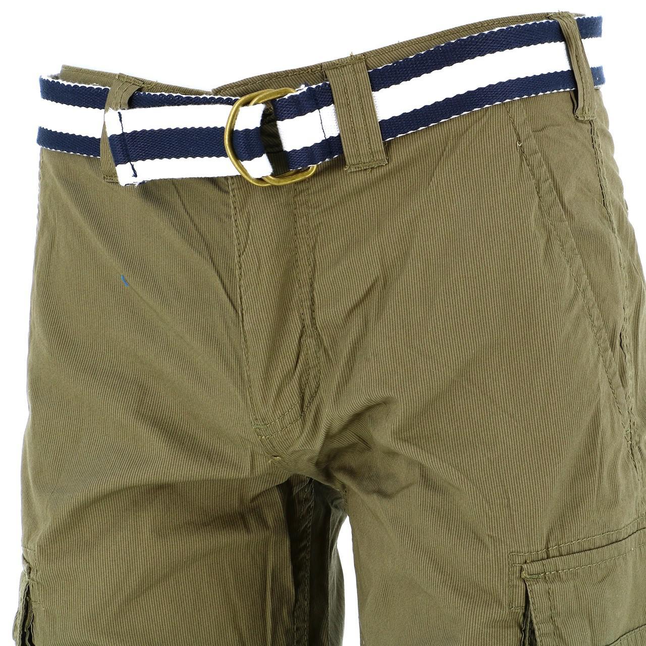 Bermuda-Shorts-Teddy-smith-Sytro-Khaki-Shorts-Jr-Green-18199-New thumbnail 4