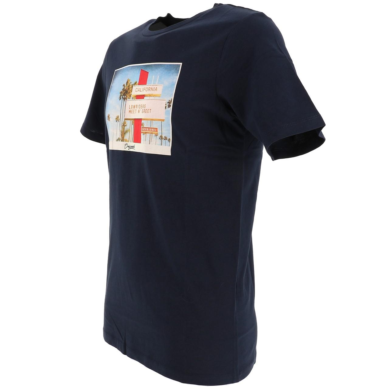 Short-Jack-and-jones-Hotel-Total-Eclipse-Tee-Blue-18535-Does-Not thumbnail 4