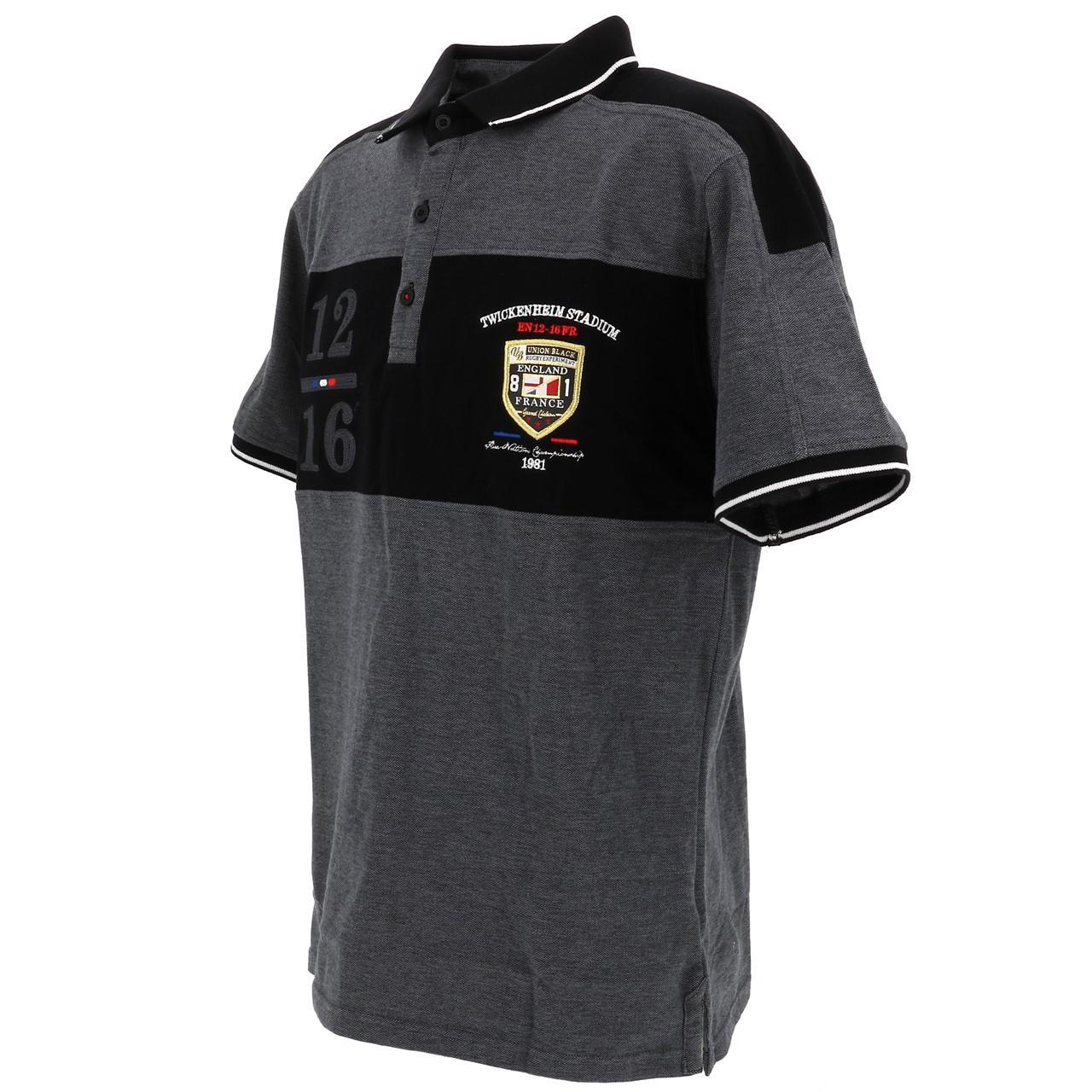 Short-Sleeve-Polo-Union-Black-League-Black-Mc-Polo-Black-18769-New thumbnail 4