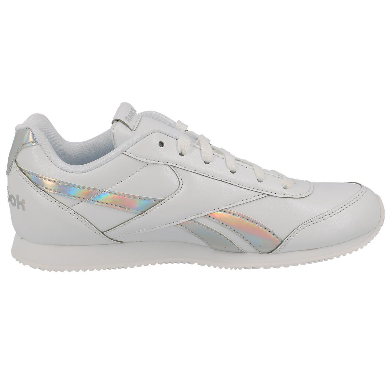 Details zu Schuhe Niedrig Leder oder Faux Reebok Royal Cljog White Mädchen Weiß 18852 Neu