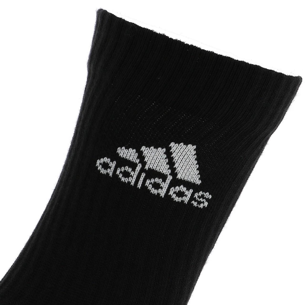 Short-Socks-Socks-Adidas-3s-Perf-Crew-cho7-nr-6pp-Black-19049-New thumbnail 3
