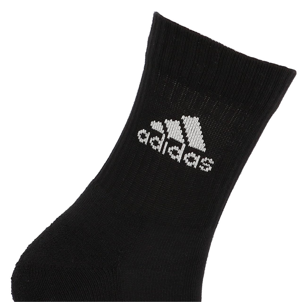 Socks-Adidas-3s-Perf-Crew-cho7-nr-3pp-Black-19055-New thumbnail 4