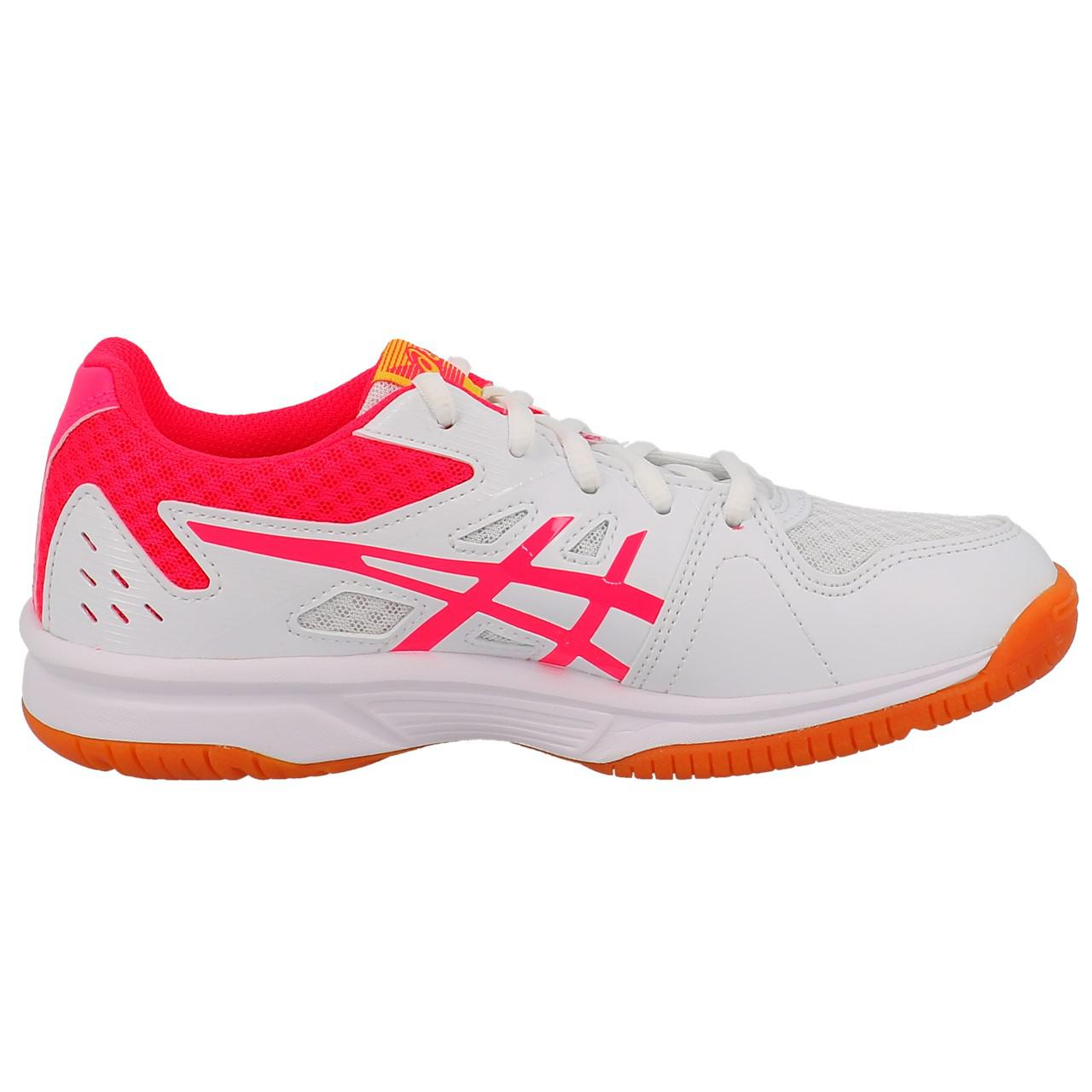 Shoes-Volleyball-Basketball-Asics-Upcourt-3-Wht-Indoor-G-White-19557-New thumbnail 4