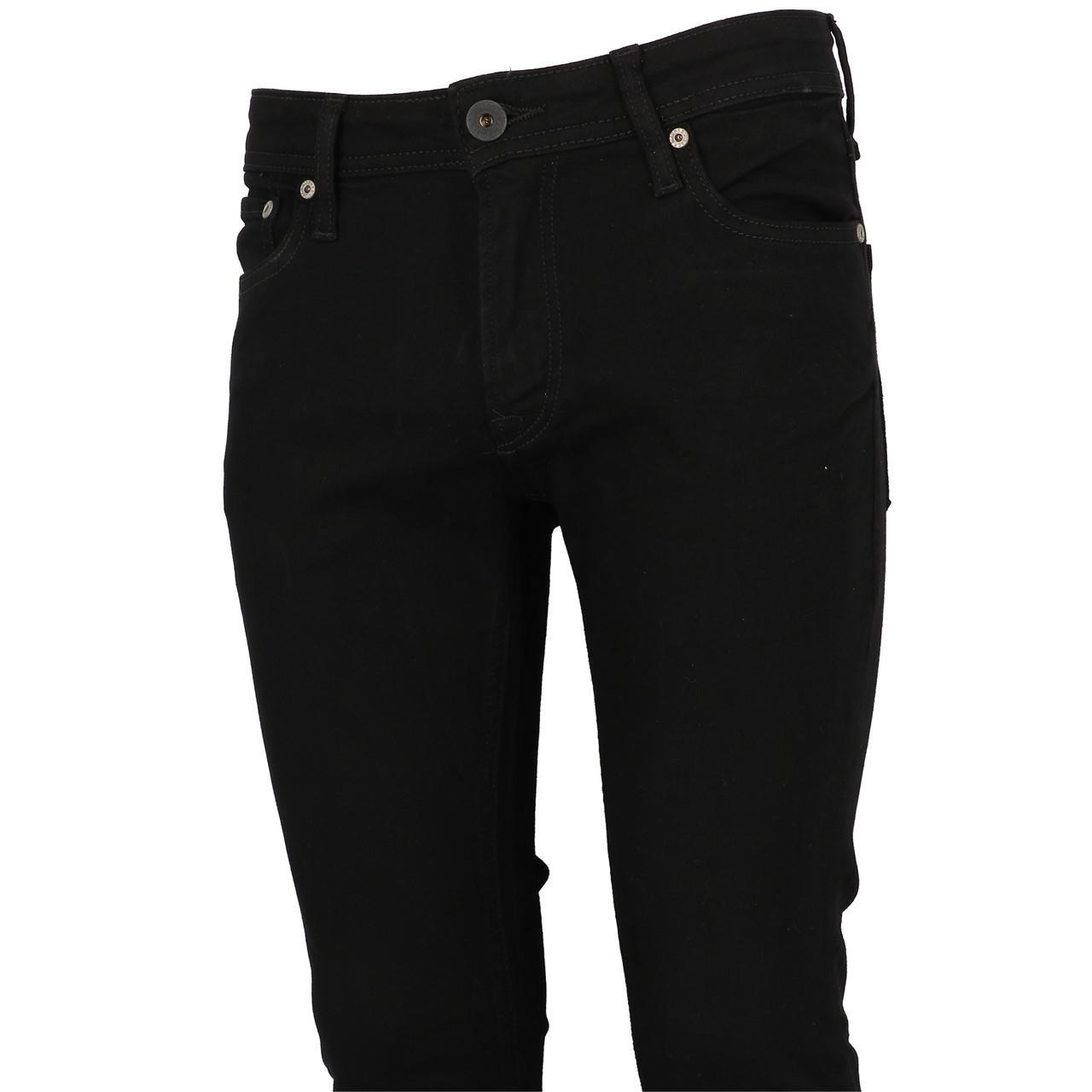 Jeans-Pants-Jack-and-jones-Liam-32-Blk-Denim-Black-Jeans-19909-New thumbnail 4