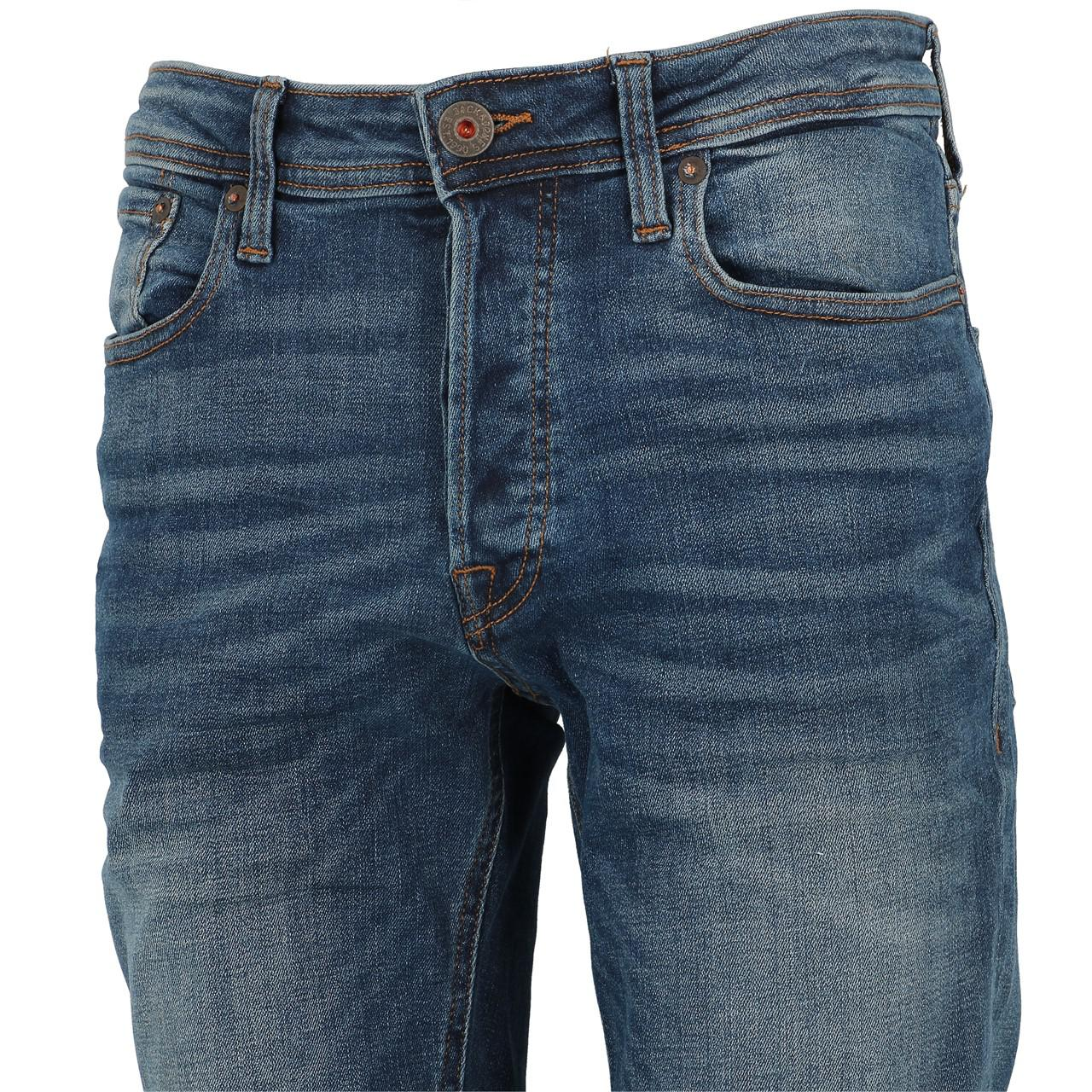 Jeans-Pants-Jack-and-jones-Tim-34-Blue-Denim-Blue-Jeans-19918-New thumbnail 4