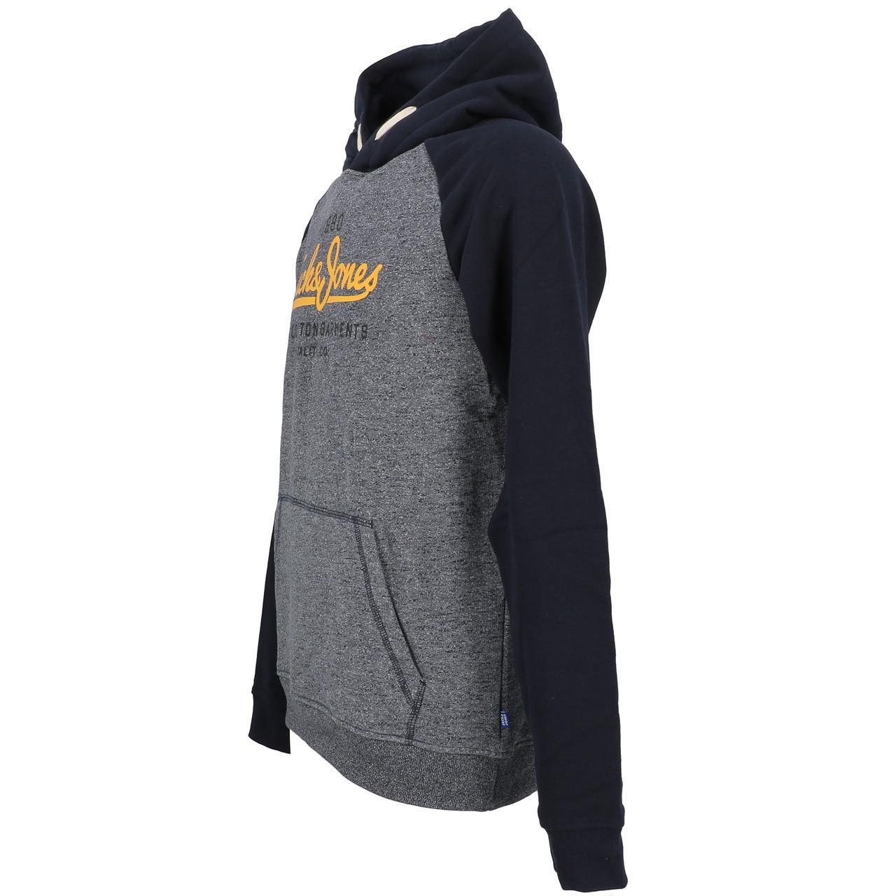 Sweatshirt-Kapuze-Kapuzenpulli-Jack-And-Jones-Kontrast-Umhang-Nv-Jr-Blau-25851 Indexbild 4