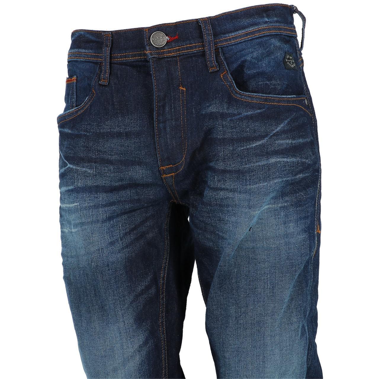 Jeans-Pants-Slim-Blend-Twister-34-Denim-Dark-Reg-Blue-25943-New thumbnail 4