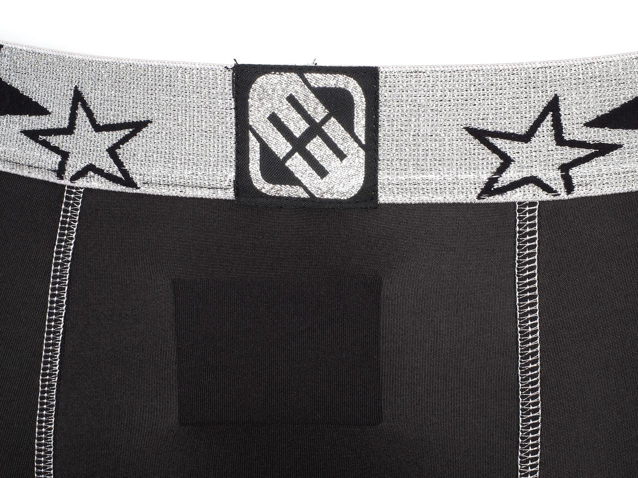 Underwear-Boxer-Freegun-Blacky-Silver-Black-Black-Boxer-26414-New thumbnail 4