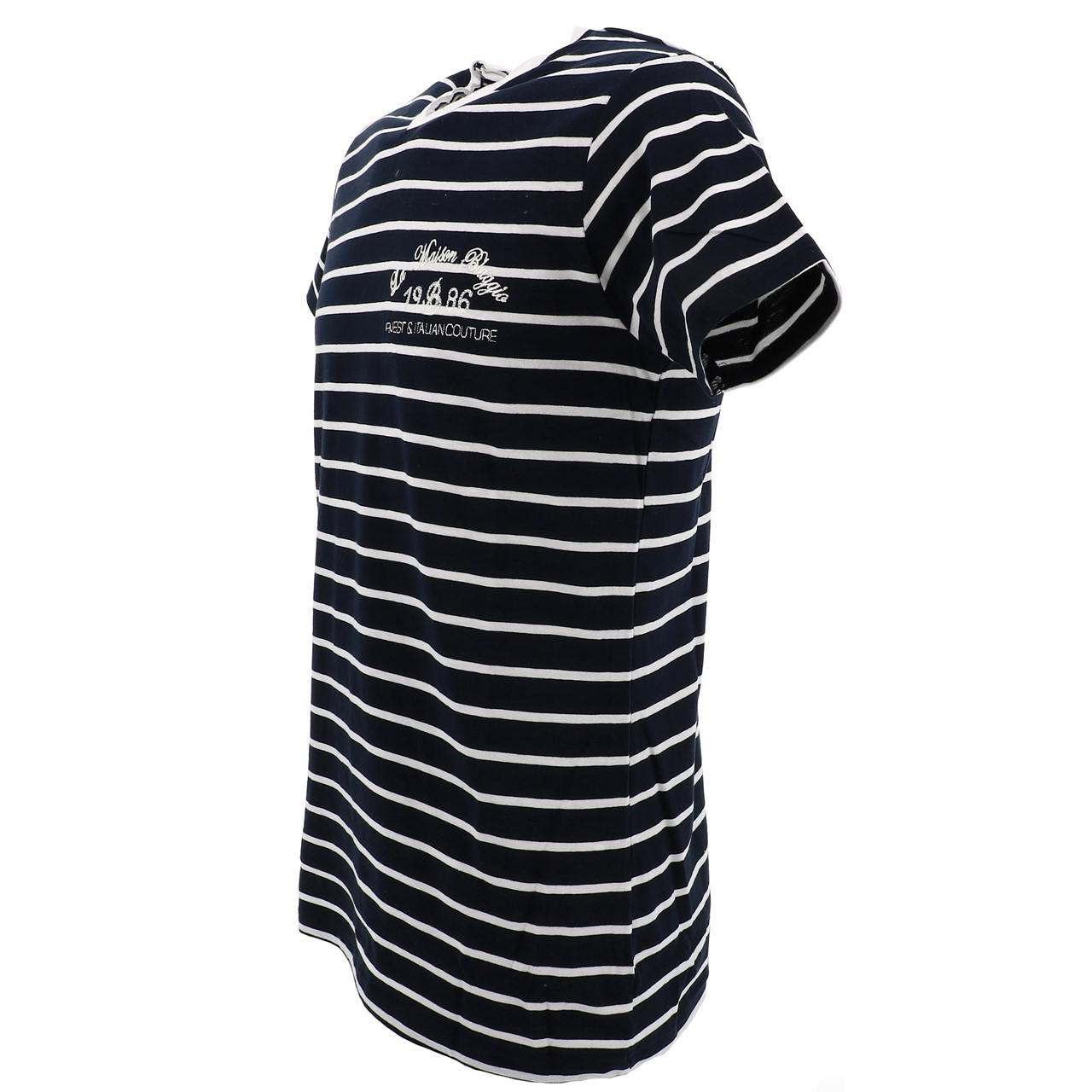 Short-Sleeve-T-Shirt-La-Maison-Blaggio-Mavili-Navy-Wht-Mc-Tee-Blue-27335 thumbnail 4