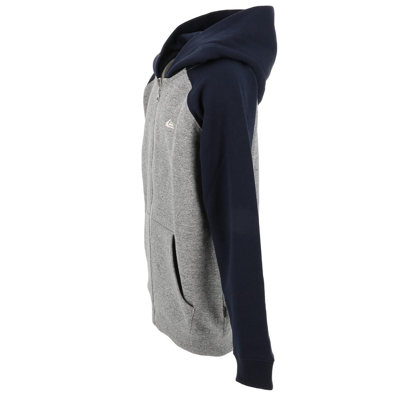 Jacken-Sweatshirts-Zipped-Kapuze-Quiksilver-Everyday-Grc-Fz-Umhang-Sw-Jr-Grau Indexbild 4