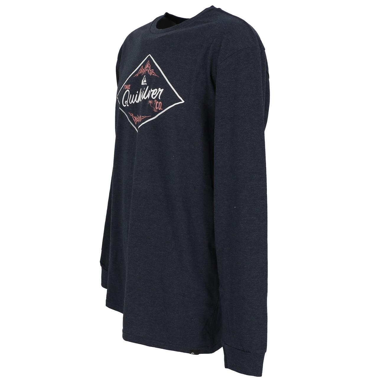 T-Shirt-Long-Sleeves-Quiksilver-California-Wounds-Nv-Tee-Blue-27852-New thumbnail 4