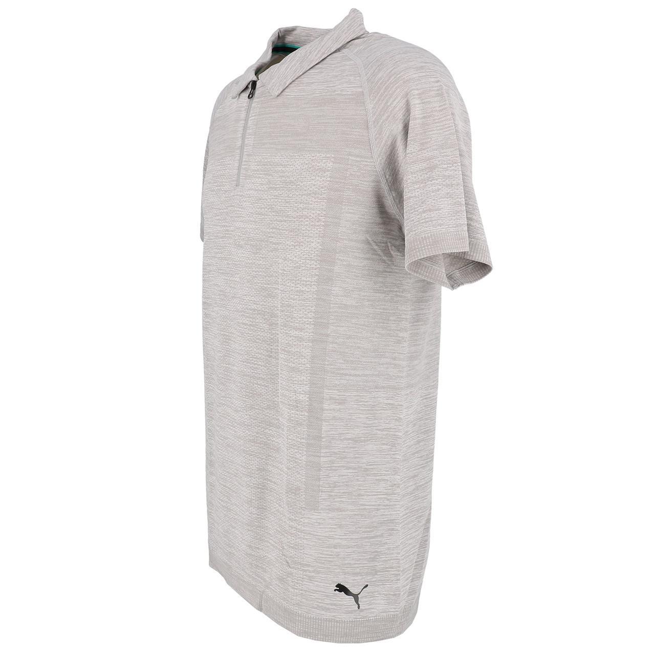 Short-Sleeve-Polo-Puma-Mapm-Rct-Evoknit-Groups-Polo-Grey-30141-New thumbnail 4