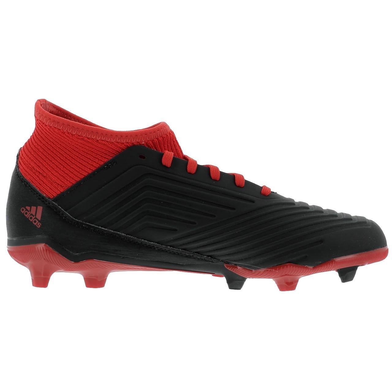 Football-Shoes-Flap-Adidas-Predator-18-3-Fg-Jr-Black-36196-New thumbnail 3