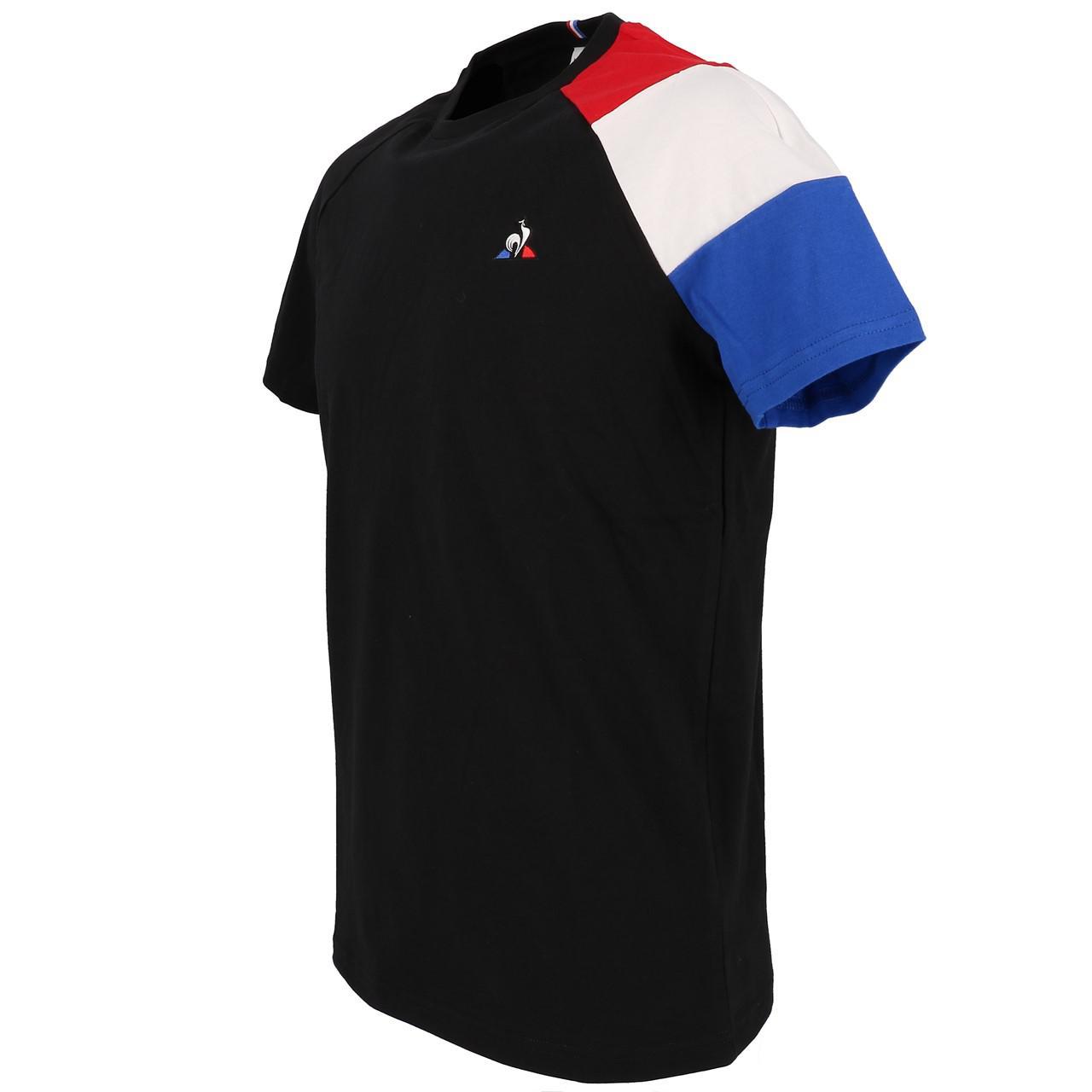 Short-Le-coq-sportif-Tricolor-Tee-H-Black-Black-40704-New thumbnail 4
