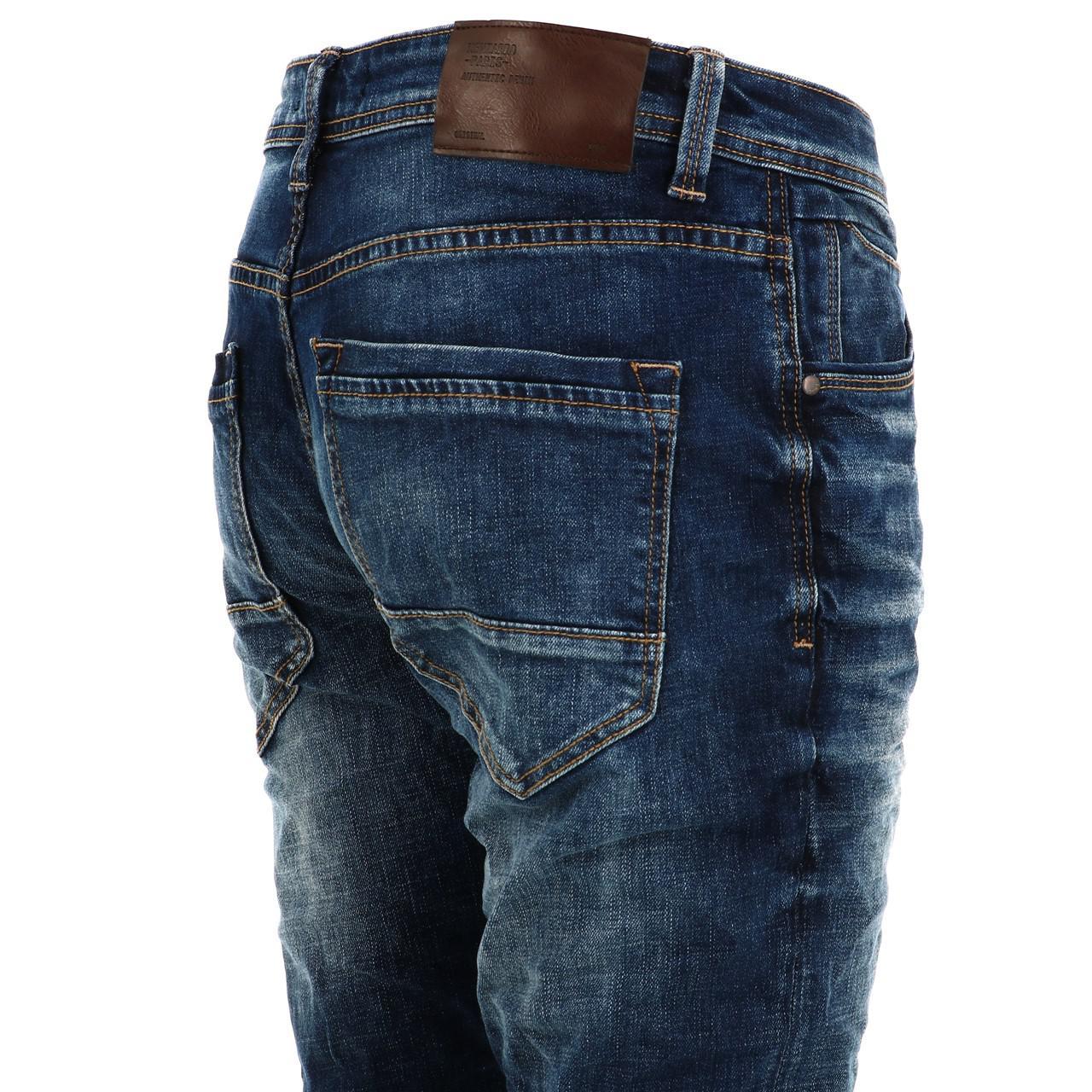 Jeans-Pants-Senders-Bullon-Used-Blue-Blue-41918-New thumbnail 4