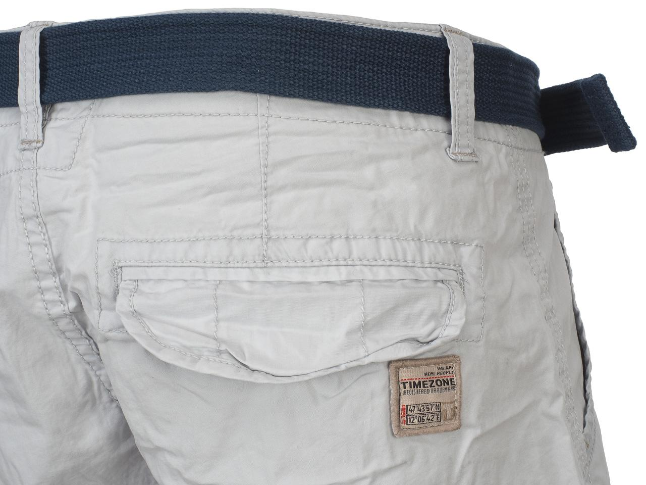 Bermuda-Shorts-Timezone-Russell-Light-Grey-Shorts-Grey-42181-New thumbnail 4