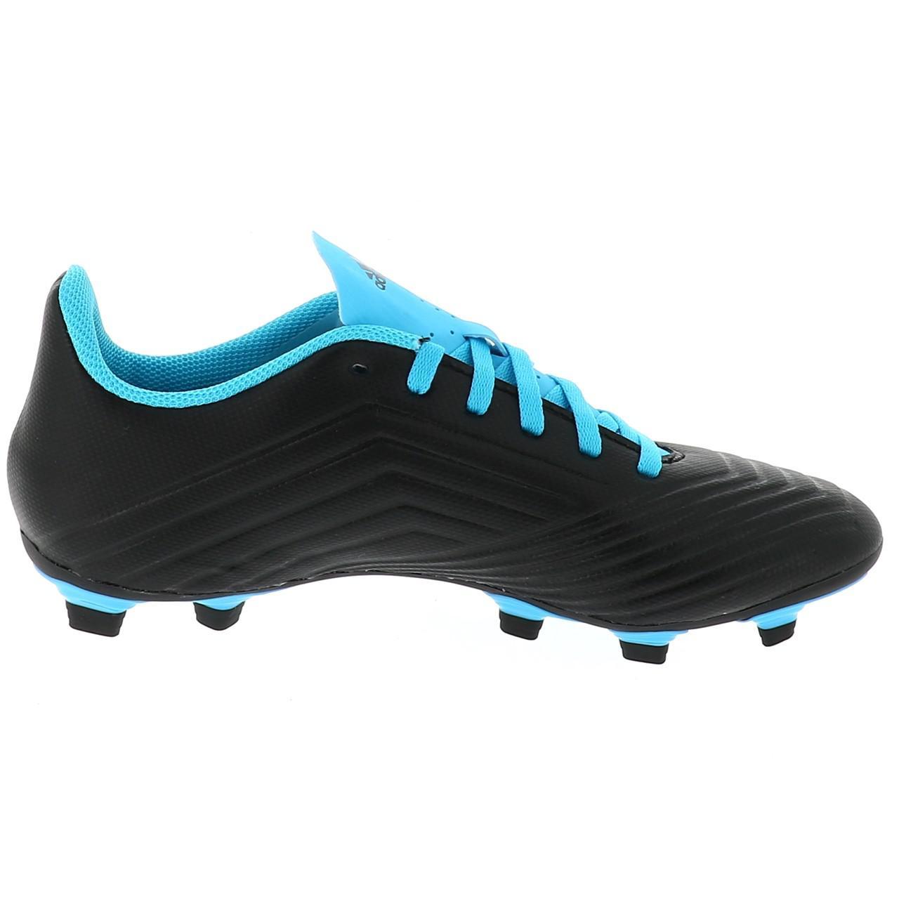 Chaussures-football-lamelles-Adidas-Predator-19-4-fg-grorg-Noir-42821-Neuf miniature 4