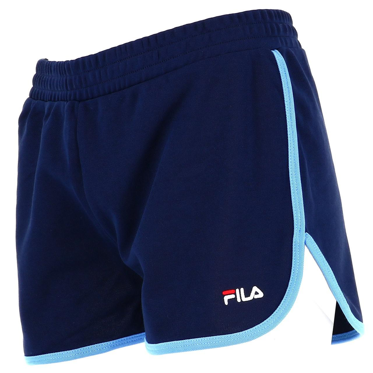 Bermuda-Shorts-Fila-Paige-Shorts-Vintage-W-Blue-45218-New thumbnail 4