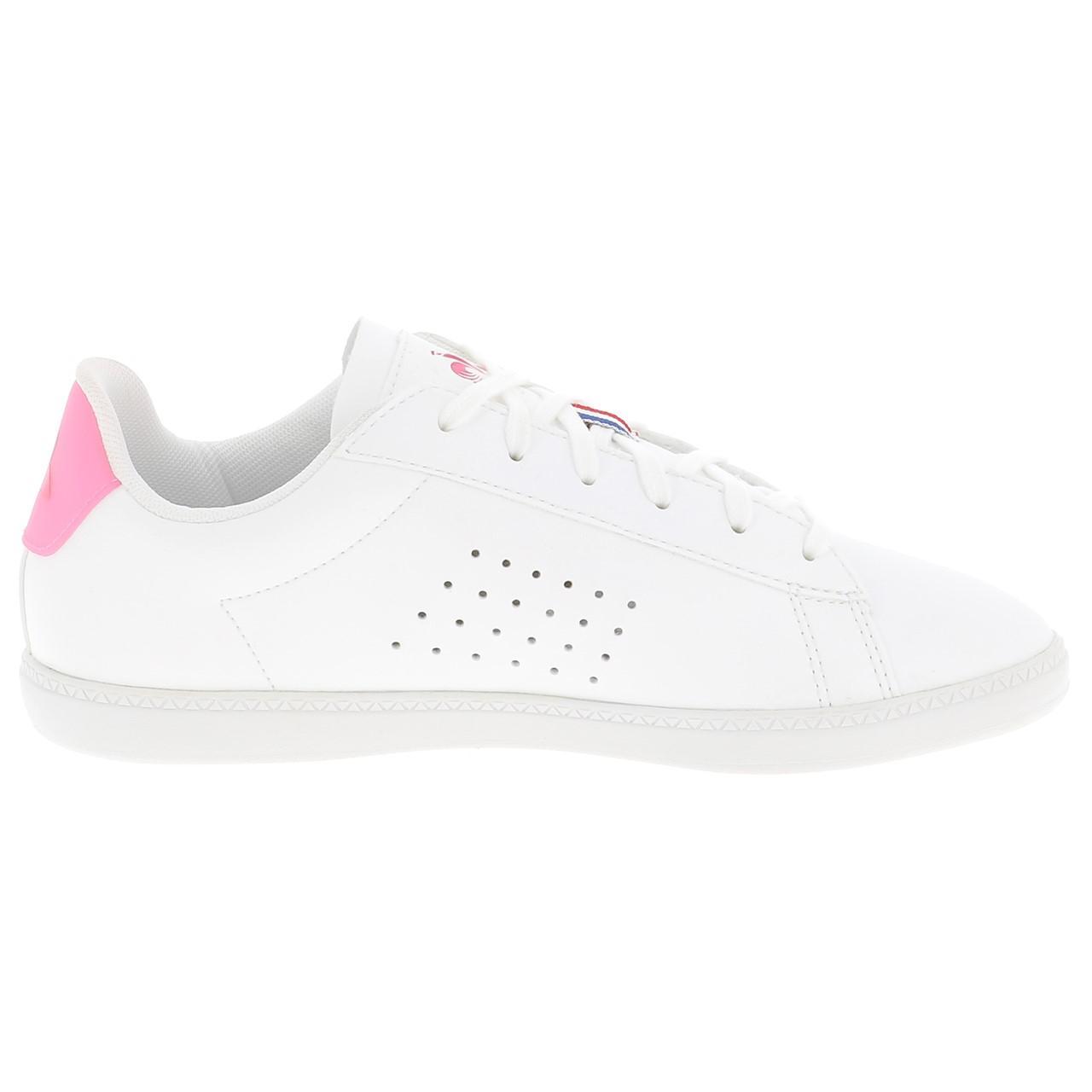 Schuhe-Niedrig-Leder-oder-Faux-Le-Coq-Sportif-Courtset-Maedchen-Blc-Weiss-47681 Indexbild 4