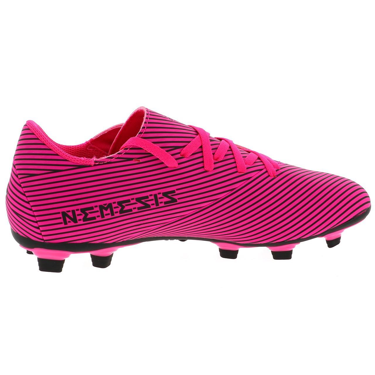 Football-Shoes-Flap-Adidas-Nemeziz-19-4-Fxg-Pink-48290-New thumbnail 4