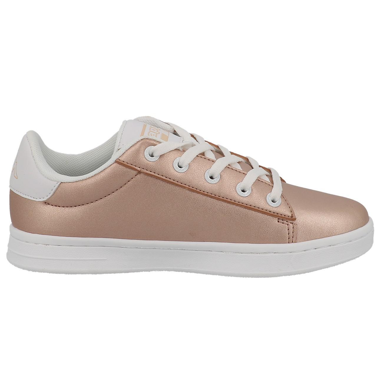 Schuhe-Niedrig-Leder-oder-Faux-Kappa-Tchouri-Schnuersenkel-Rauch-Beige-49612 Indexbild 4