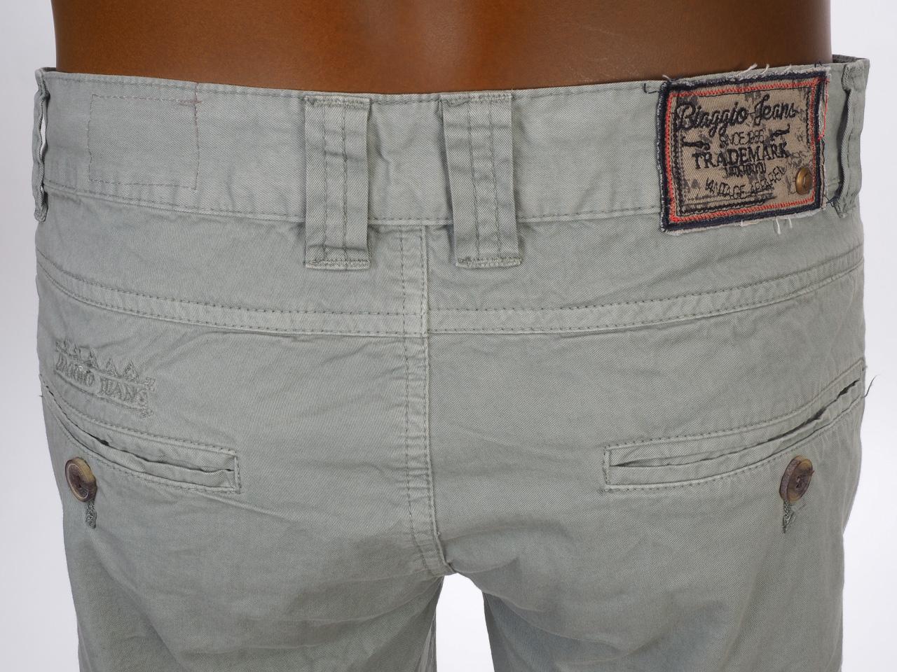 Three-Quarter-Pants-Bermuda-Biaggio-Famiros-Grey-Bermuda-Grey-50722-New thumbnail 4