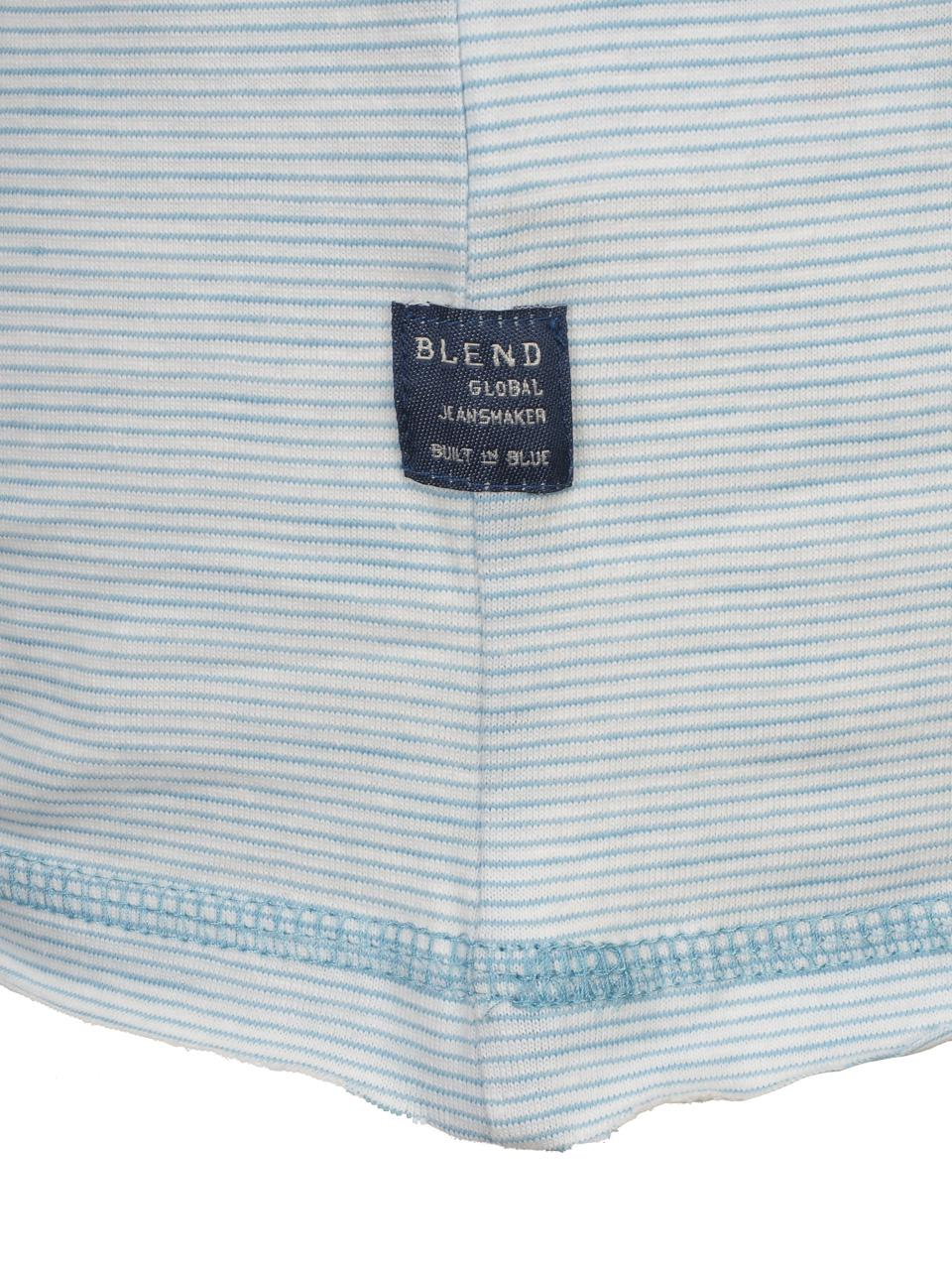Short-Sleeve-T-Shirt-Blend-Prisco-Steel-Blue-Mc-Tee-Blue-52992-New thumbnail 4
