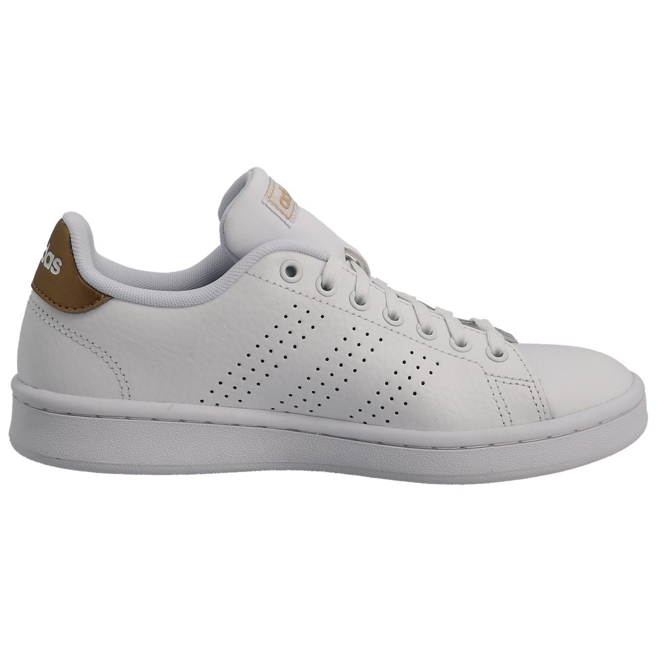 Chaussures mode ville Adidas Advantage w blanc dore Blanc