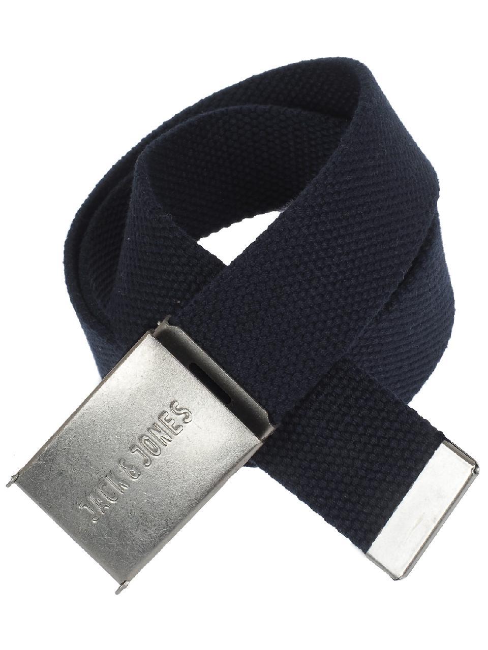 Belt-Jack-and-Jones-Solid-Navy-Woven-Belt-Blue-56525-New thumbnail 4