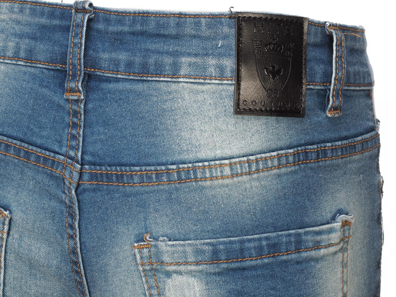 Jeans-Pants-Hite-Couture-Kimit-Blue-Blue-Jeans-56935-New thumbnail 4