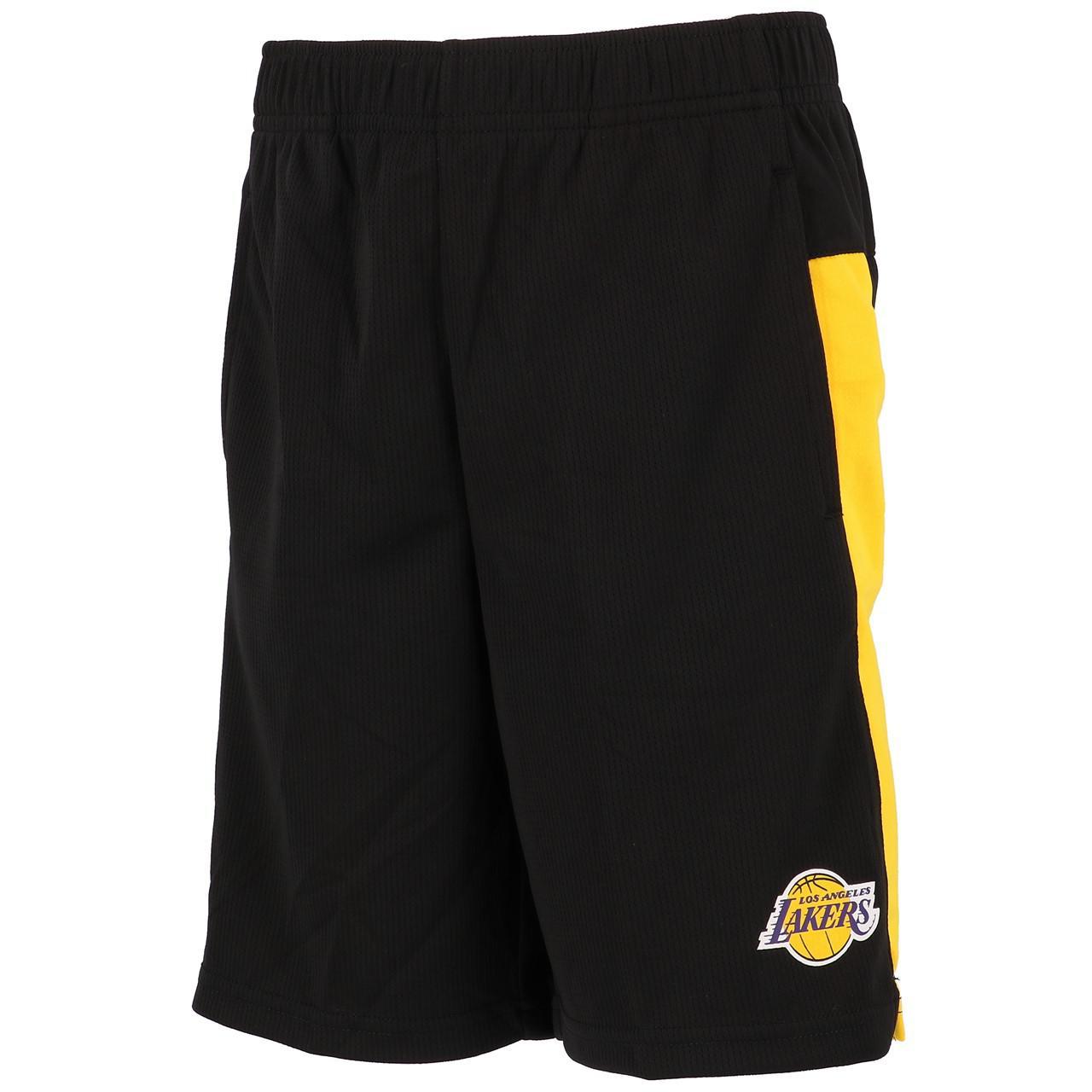 Ensemble-set-Outstuff-Lakers-minikit-maillot-short-Noir-57655-Neuf miniature 4