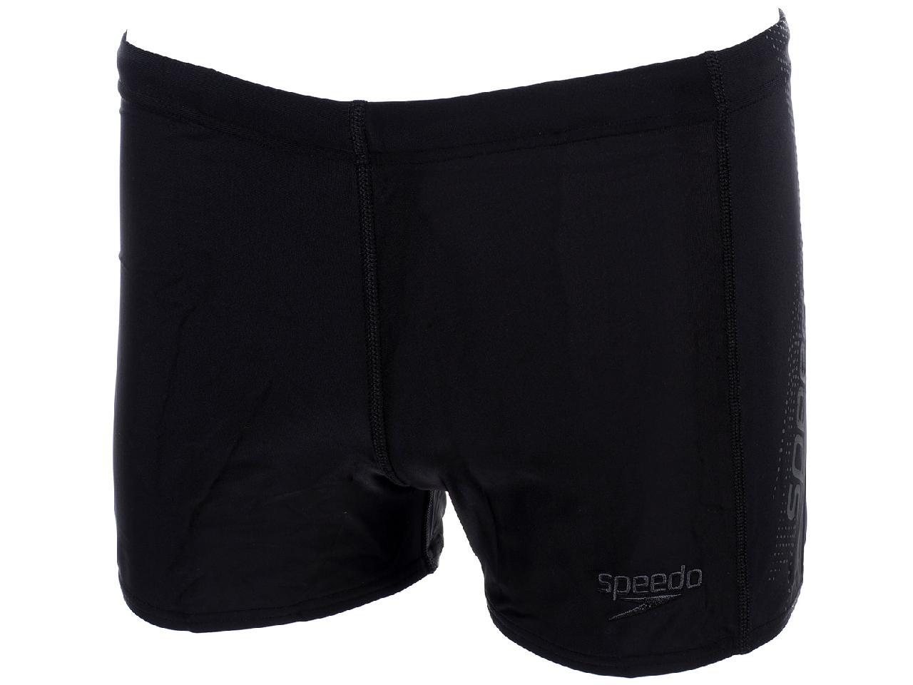 Boxer-Swimsuit-Speedo-Sports-Logo-Black-Gray-Black-58322-New thumbnail 4