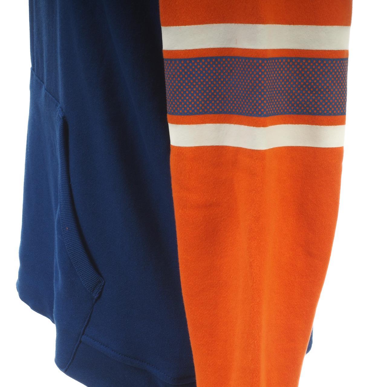 Sweatshirt-Kapuze-Kapuzenpulli-Outstuff-Knicks-Ny-Umhang-Okc-Blau-60529-Neu Indexbild 4