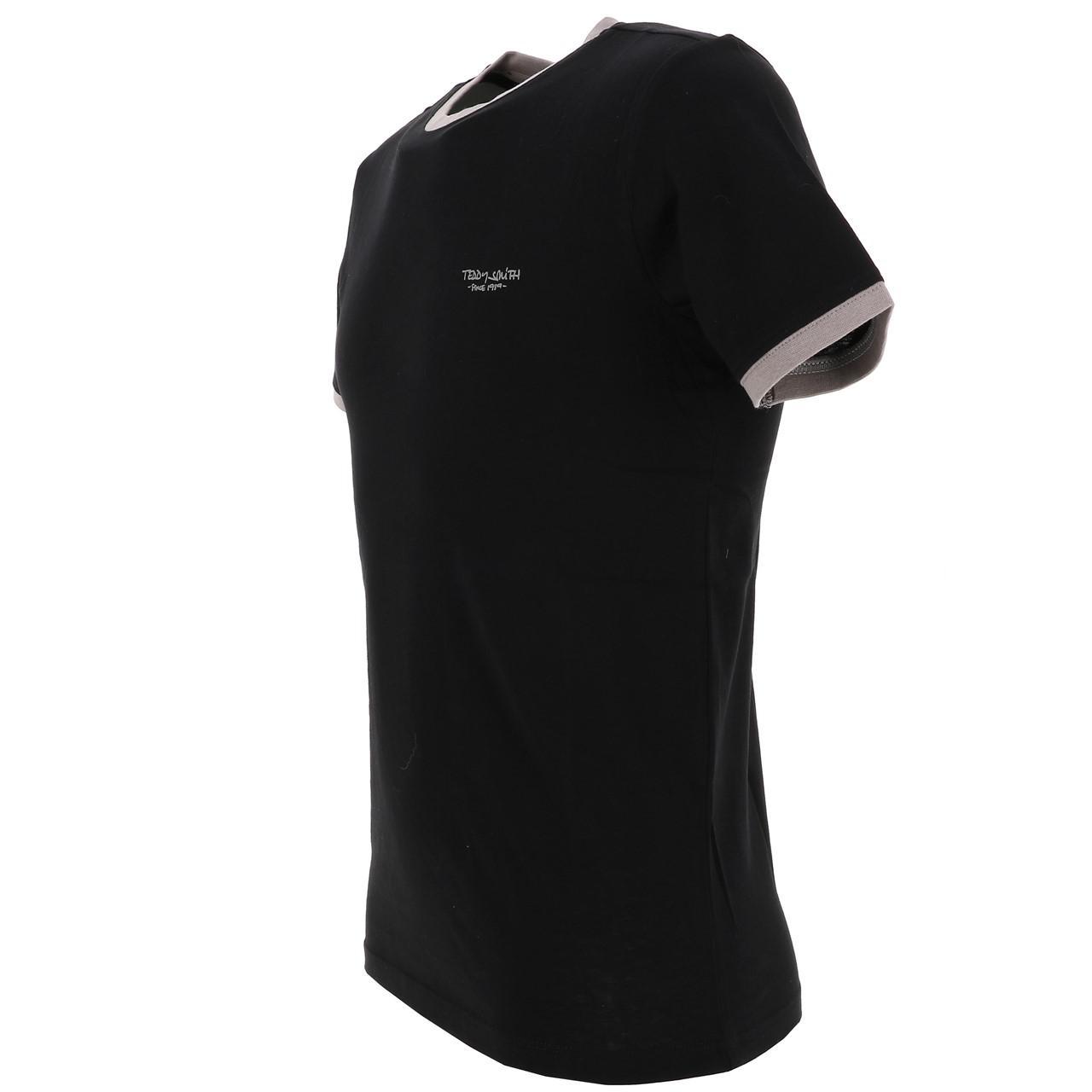 Short-Sleeve-T-Shirt-Teddy-Smith-the-Tee-Mc-Black-Black-65767-New thumbnail 4