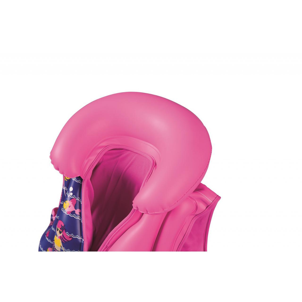 Gilet-flottant-natation-Bestway-Girl-inflatable-3-6-ans-Rose-70799-Neuf miniature 4