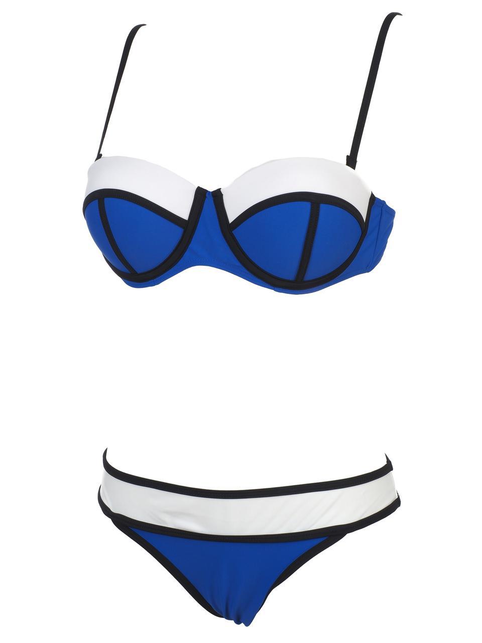 Maillot-de-bain-2-pieces-Culture-sud-Appa-royal-2p-Bleu-79870-Neuf miniature 4